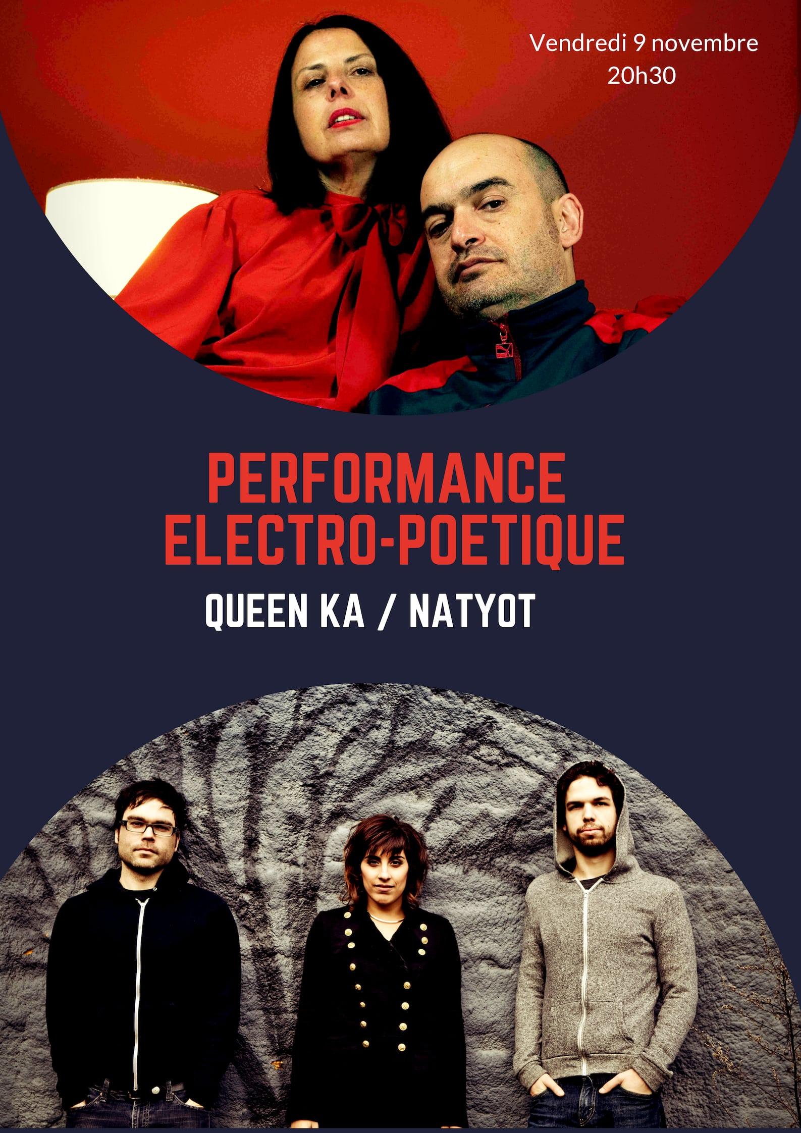Performance Electro Poétique avec Queen Ka et NatYot @ La Factorie Maison de Poésie
